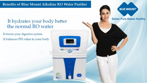 Blue Mount Alkaline Ro Water Purifier With Led Display
